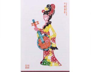 Mujer con instrumento musical #400
