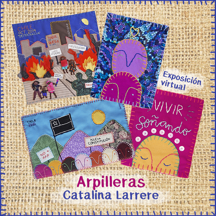 """[Exposición virtual] """"Inquietudes bordadas"""" de Catalina Larrere."""