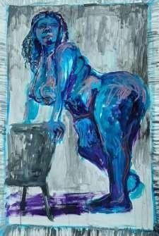 Bianca Nguema. Blue Sopale. 2020